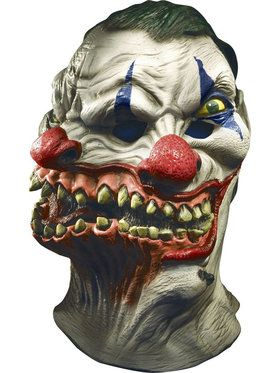 Siamese Clown Over Head Creepy Mask