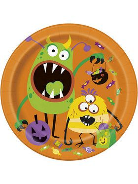 "Silly Halloween Monsters 9"" Lunch Plate (8)"