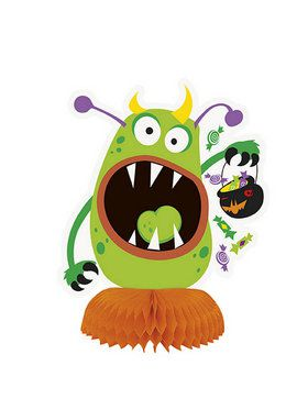 Silly Halloween Monsters Honeycomb Decoration (3)