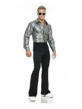 Silver Disco Mens Shirt