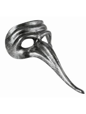 Silver Long Nose Mask