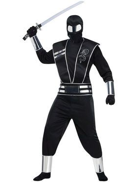 Silver Mirror Ninja Adult Costume