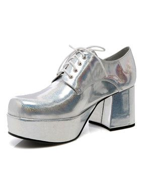 Silver Pimp Adult Shoes for Halloween