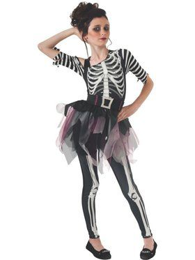 Girl's Skeleton Ballerina Costume