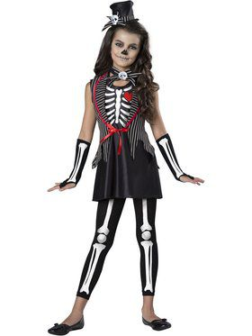 Girls Skeleton Cutie Costume