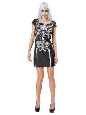 Adult Skeleton Dress Costume For Adults