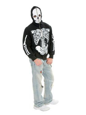 Men's Printed Skeleton Sweatshirt Hoodie
