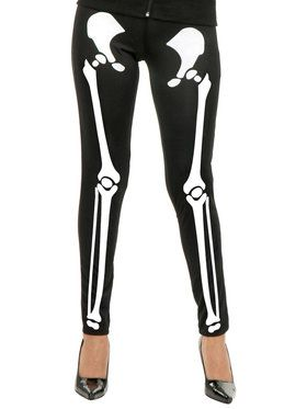 Skeleton Leggings For Adults