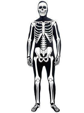 Skeleton Man Skin Suit Men's Costume