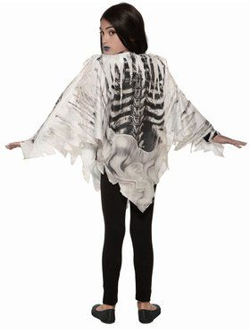 Skeleton Poncho Child Costume