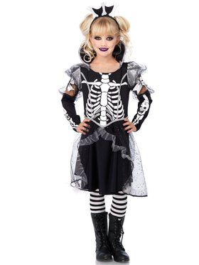 Skeleton Princess Girl's Costume