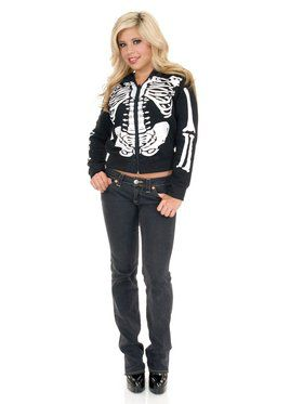 Black and White Skeleton Sweatshirt Hoodie