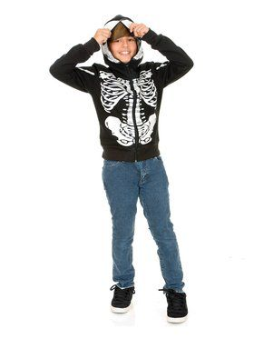 Skeleton Sweatshirt Hoodie for Kds