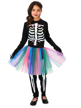 Skeleton Tutu Costume For Children