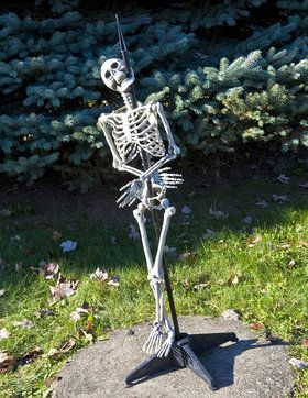Standing Skewered Skeleton Prop