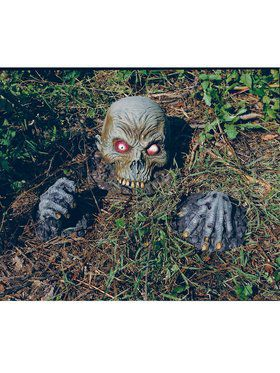 Skull and Hand Ground Breaker Lawn Prop