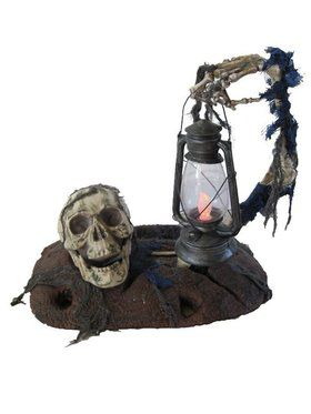 Skull and Lantern Dirt Prop