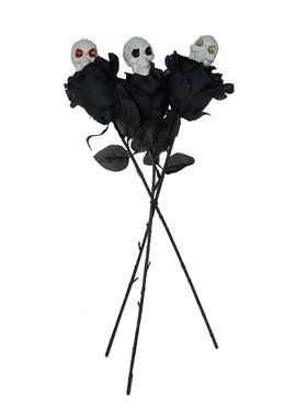 Skull & Black Rose Trio Prop