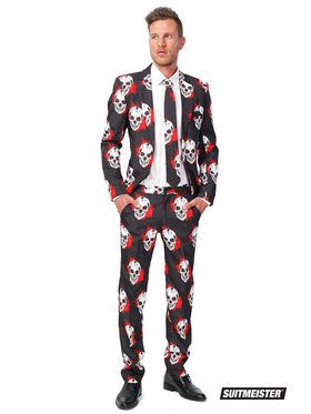 Suitmeister Skull Blood Suit and Tie Set for Men