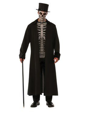 Skeleton Mob Men's Costume