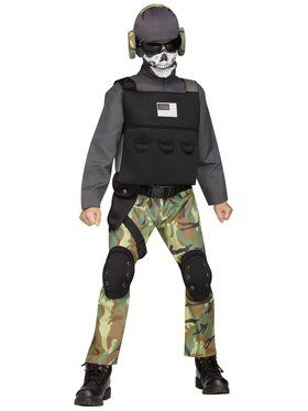 Skull Soldier Boys Costume