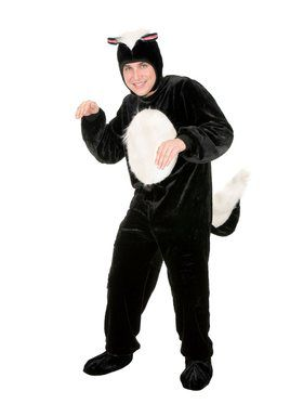 Adult's Skunk Micro Fiber Costume