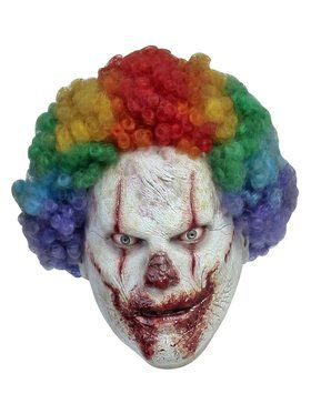 Adult's Creepy Slasher Clown Mask
