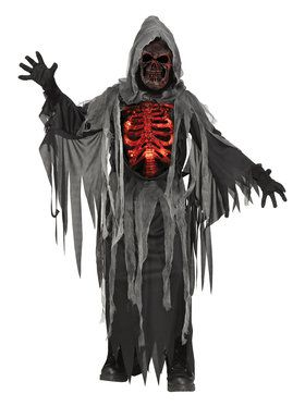 Light Up Smoldering Chest Child Reaper Costume