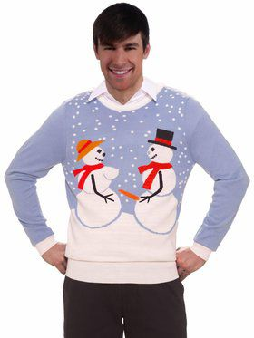 Snow Couple Christmas Sweater