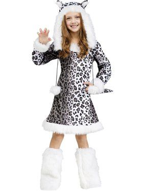 Snow Leopard Girl's Costume