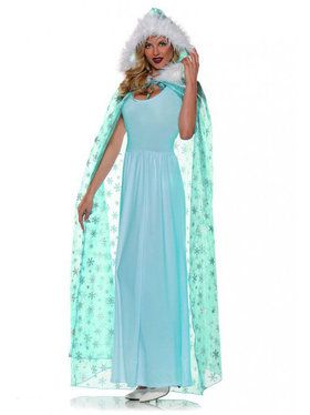 Snow Queen Cape Women's Costume