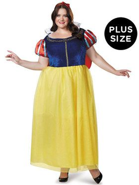 Plus Size Snow White Deluxe Costume For Adults