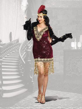 Sophisticated Lady Curvy Flapper Women's Costume