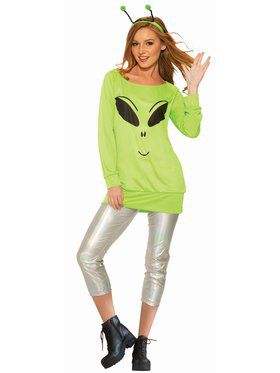 Spaced Out Shirt, Leggings, and Antennae Costume