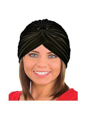 Spandex Turban in Black