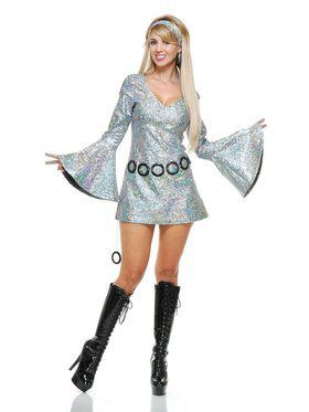 Women's Sparkle Disco Diva Costume