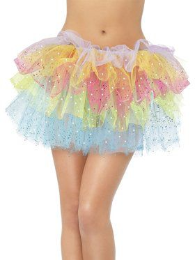 Sparkle Rainbow Tutu with Sequins For Women