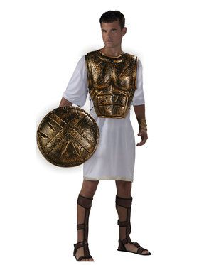 Spartan Chest Plate and Shield Set for Halloween