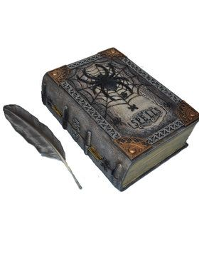 Spell Book with Feather Tabletop Prop