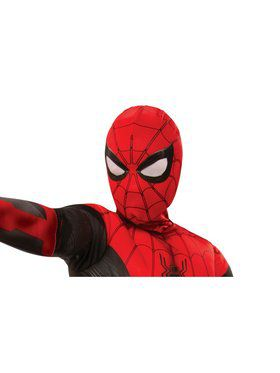 Kid's Spider-Man: Far From Home Spider-Man Red and Black Fabric Mask