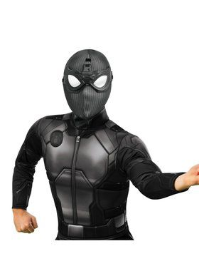 Adult Spider-Man: Far From Home Deluxe Spider-Man Stealth Fabric Mask with Goggles