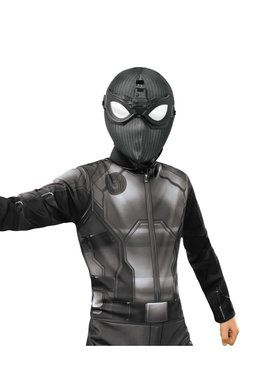 Kid's Spider-Man: Far From Home Deluxe Spider-Man Stealth Fabric Mask with Goggles