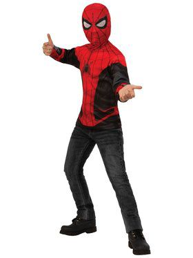 Spider-Man Far From Home Spider-Man Red and Black Top Costume