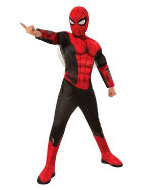 Spider - Man Far From Home: Spider - Man Deluxe (Red/Black Suit) Child Costume