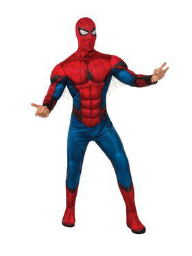 Spider - Man Far From Home: Spider - Man Deluxe (Red/Blue Suit) Adult Costume