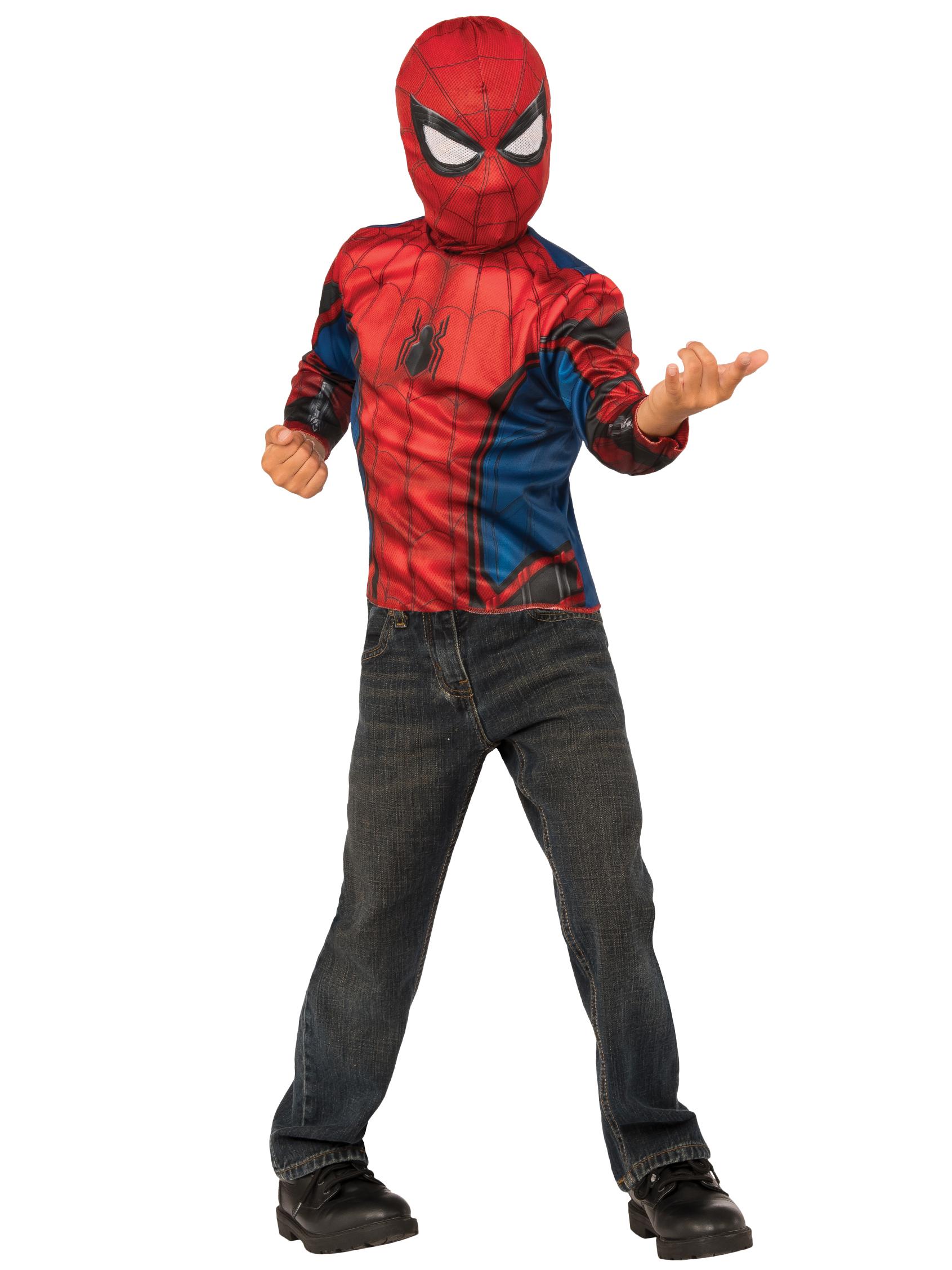 Spider-Man Homecoming 2-In-1 Boys Reversible Spider-Man Costume Top Set With Web Backpack G31934IBR-S