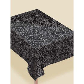 "Spider Web Table Cover 52"" x 90"" - Flannel Backed Vinyl"