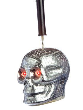 Spinning 10 Inch Skull Disco Ball