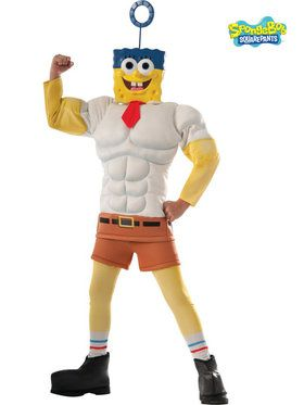 SpongeBob Movie Deluxe Muscle Chest Boy's Costume