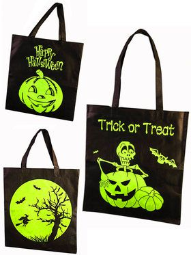 Glow In The Dark Trick or Treat Halloween Bag